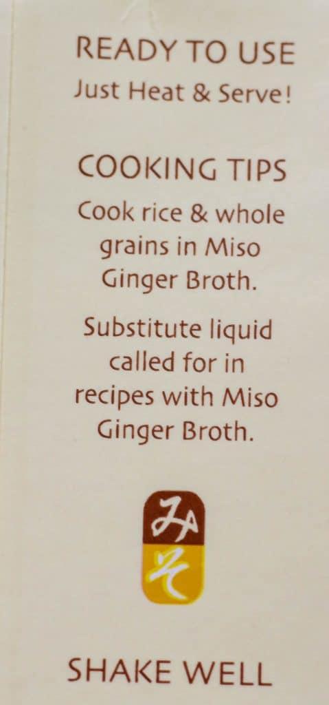 Trader Joe's Miso Ginger Broth