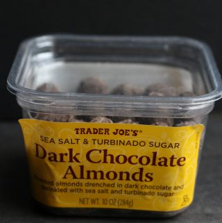 Trader Joe's Sea Salt and Turbinado Sugar Dark Chocolate Almonds