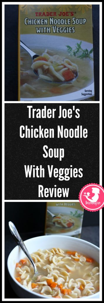Trader Joe's Chicken Noodle Soup with Veggies review is posted. Want to know if this is something worth putting on your shopping list from Trader Joe's? All pins link to BecomeBetty.com where you can find reviews, pictures, thoughts, calorie counts, nutritional information, how to prepare, allergy information, price, and how to prepare each product.
