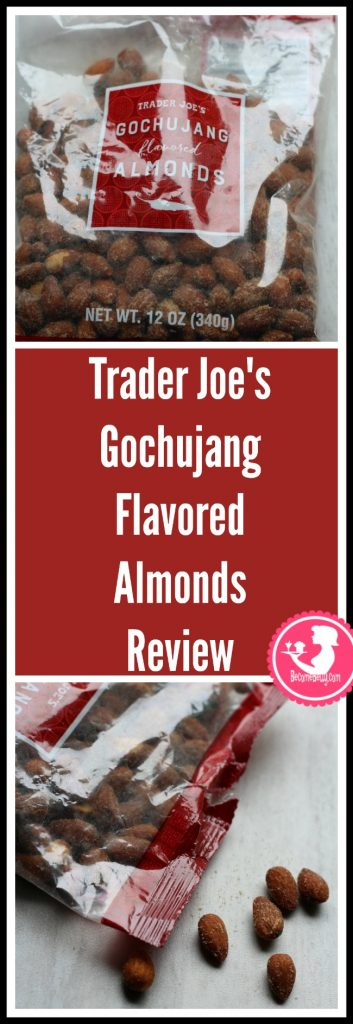 Trader Joe's Gochujang Flavored Almonds review. Want to know if this is something worth putting on your shopping list from Trader Joe's? All pins link to BecomeBetty.com where you can find reviews, pictures, thoughts, calorie counts, nutritional information, how to prepare, allergy information, price, and how to prepare each product.