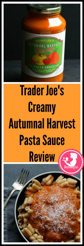 Trader Joe's Creamy Autumnal Harvest Pasta Sauce review. Each review features pictures, product and nutritional information including packaging, allergy and ingredient information, and pricing.