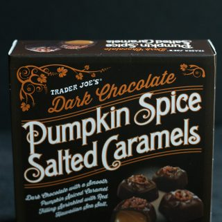 Trader Joe's Dark Chocolate Pumpkin Spice Salted Caramels