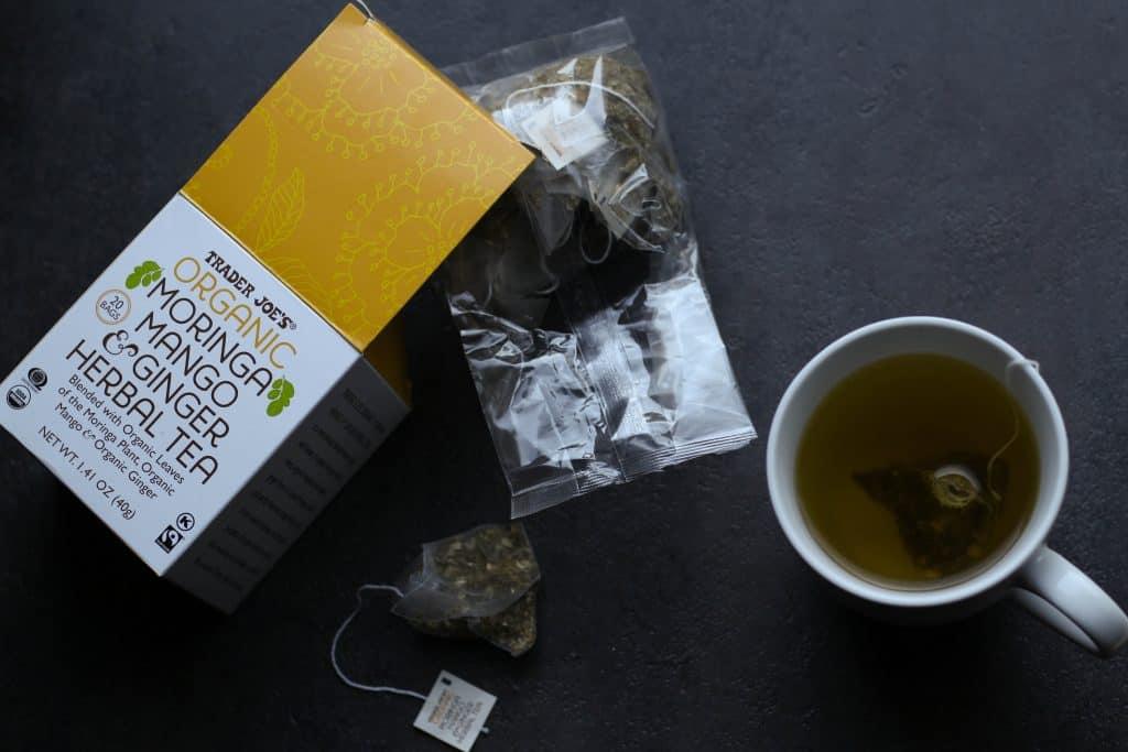 Trader Joe's Organic Moringa Mango and Ginger Herbal Tea