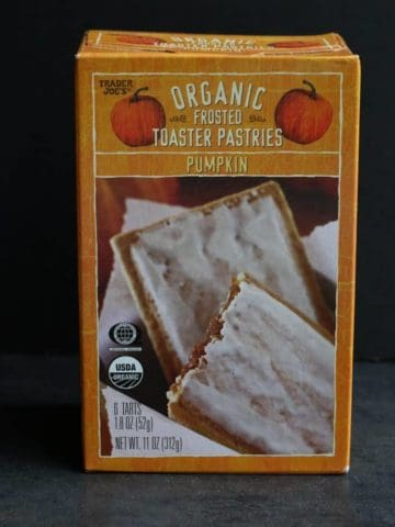 Trader Joe's Organic Frosted Pumpkin Toaster Pastries
