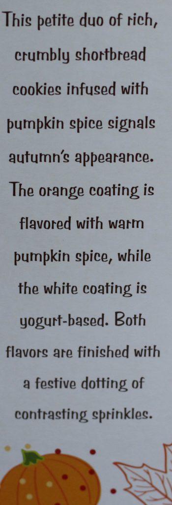 Trader Joe's Petite Pumpkin Spice Cookies description