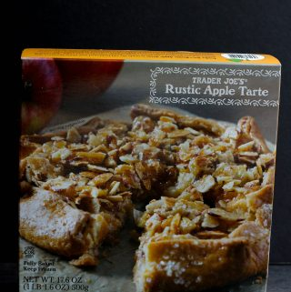 An unopened box of Trader Joe's Rustic Apple Tarte