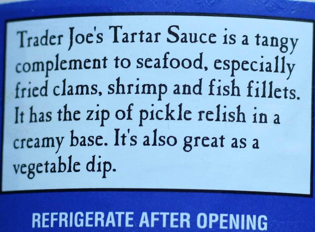Trader Joe's Tartar Sauce