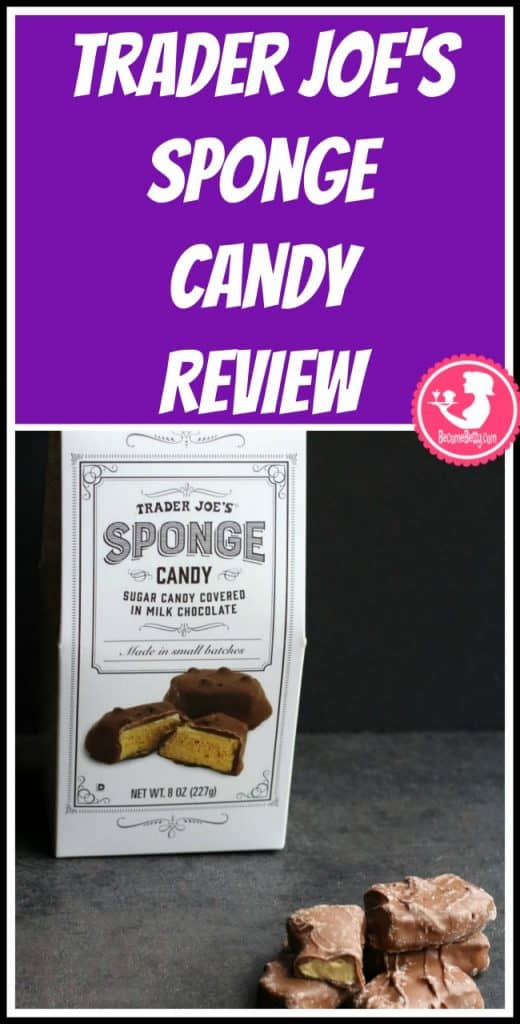 Trader Joe's Sponge Candy review. Want to know if this is something worth putting on your shopping list from Trader Joe's? All pins link to BecomeBetty.com where you can find reviews, pictures, thoughts, calorie counts, nutritional information, how to prepare, allergy information, and price.
