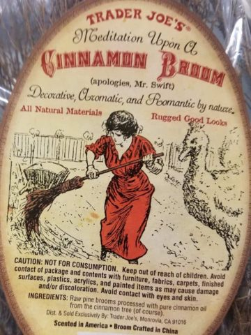 The label on the Trader Joes Cinnamon Broom