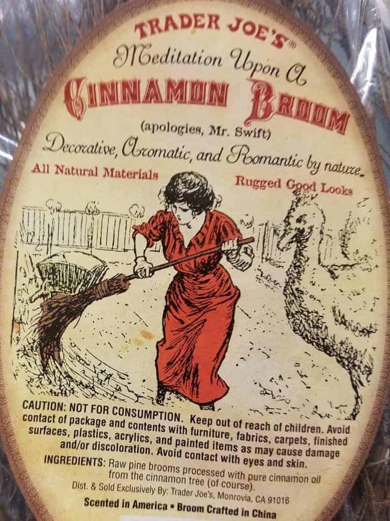 The label on the Trader Joes Cinnamon Broom