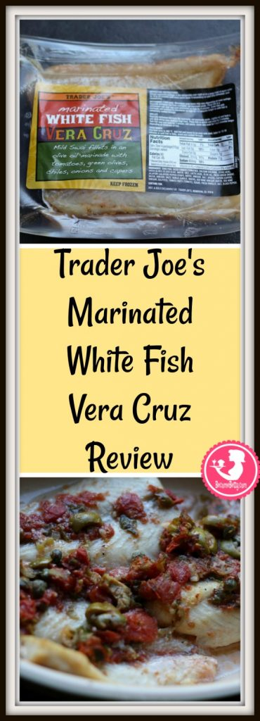 Trader Joe's Marinated White Fish Vera Cruz review. Want to know if this is something worth putting on your shopping list from Trader Joe's? All pins link to BecomeBetty.com where you can find reviews, pictures, thoughts, calorie counts, nutritional information, how to prepare, allergy information, and price.