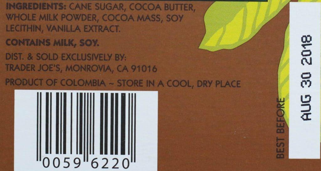 Trader Joe's Milk Chocolate Lover's Chocolate Bar