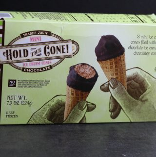 Trader Joe's Chocolate Hold the Cone! Mini Ice Cream Cones
