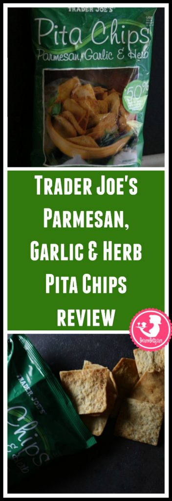 Trader Joe's Parmesan Garlic and Herb Pita Chips review.  Want to know if this is something worth putting on your shopping list from Trader Joe's? All pins link to BecomeBetty.com where you can find reviews, pictures, thoughts, calorie counts, nutritional information, how to prepare, allergy information, and price.