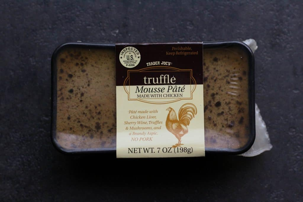 Trader Joe's Truffle Mousse Pate on a black surface