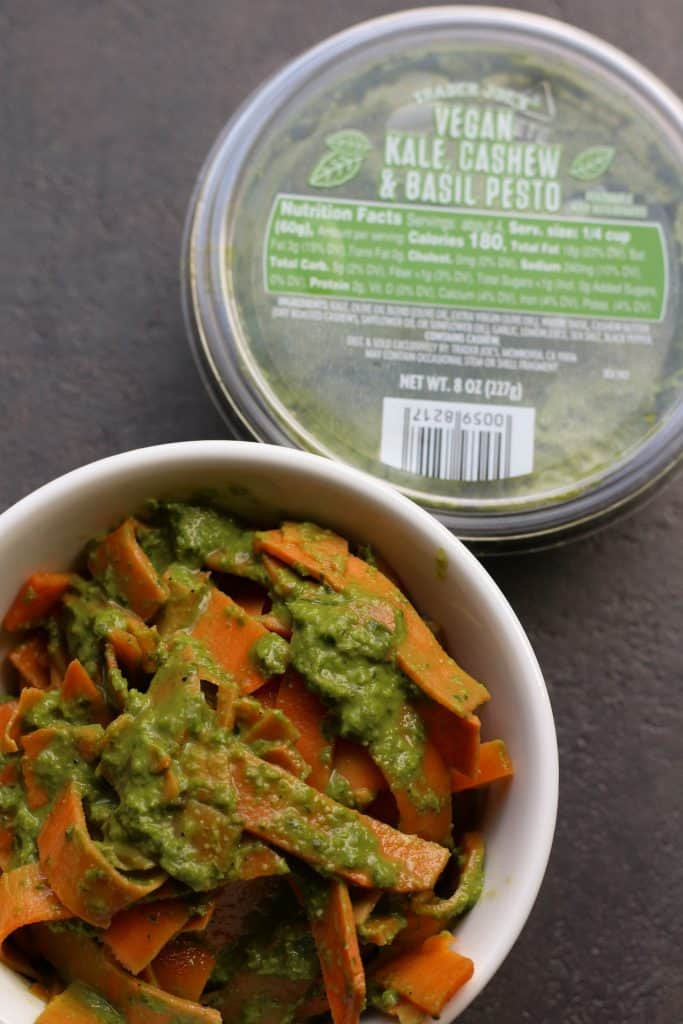 Trader Joe's Vegan Kale Cashew and Basil Pesto