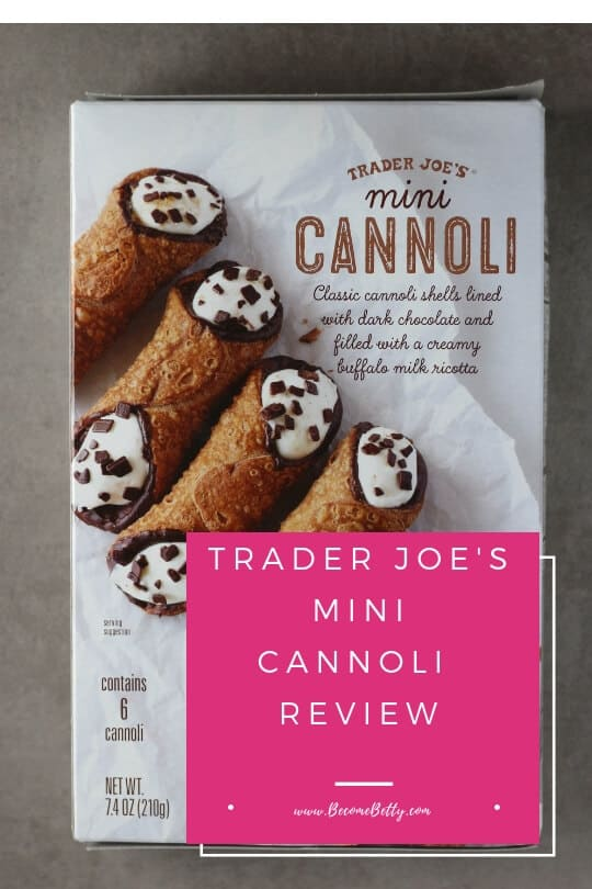 Pinterest image for Trader Joe's Mini Cannoli review