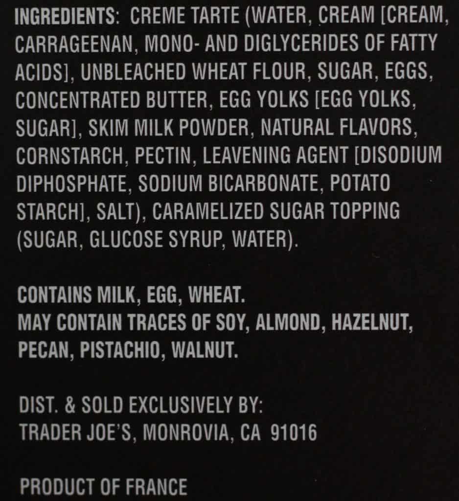 Trader Joe's Creme Brulee Tarte
