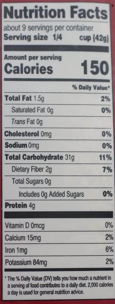 Trader Joe's Organic Rice and Quinoa Hot Cereal