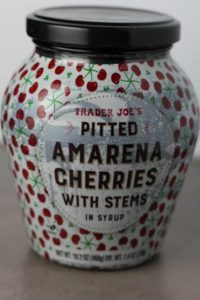 A new jar of Trader Joe's Pitted Amarena Cherries