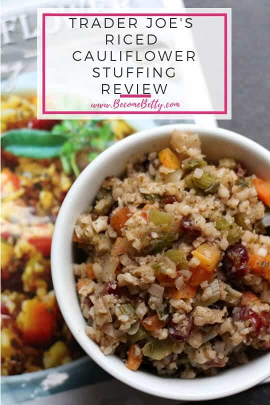 Pinterest image for Trader Joe's Riced Cauliflower Stuffing review