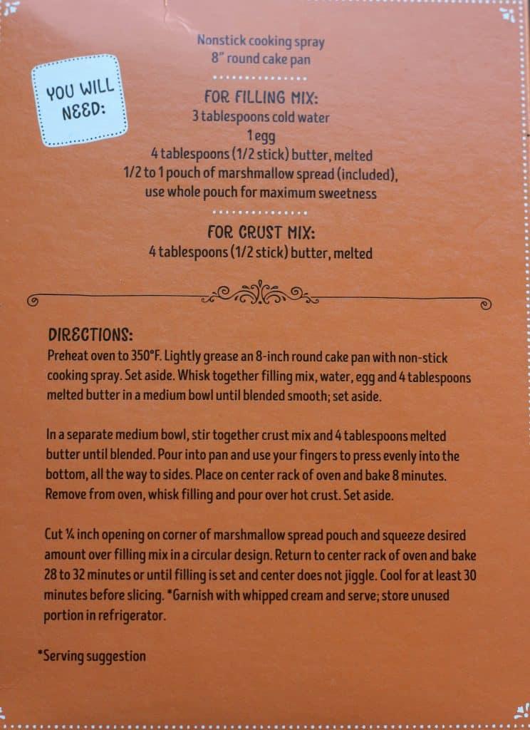 Trader Joe's Sweet Potato and Marshmallow Pixie Pie Mix how to prepare