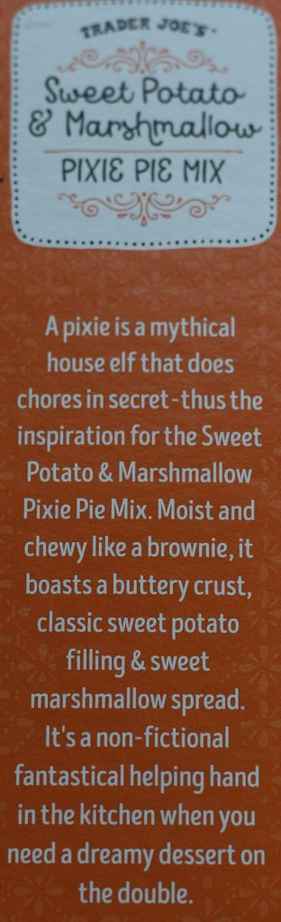 Trader Joe's Sweet Potato and Marshmallow Pixie Pie Mix description