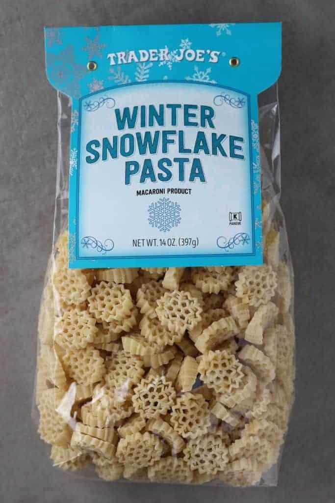 Trader Joe's Winter Snowflake Pasta