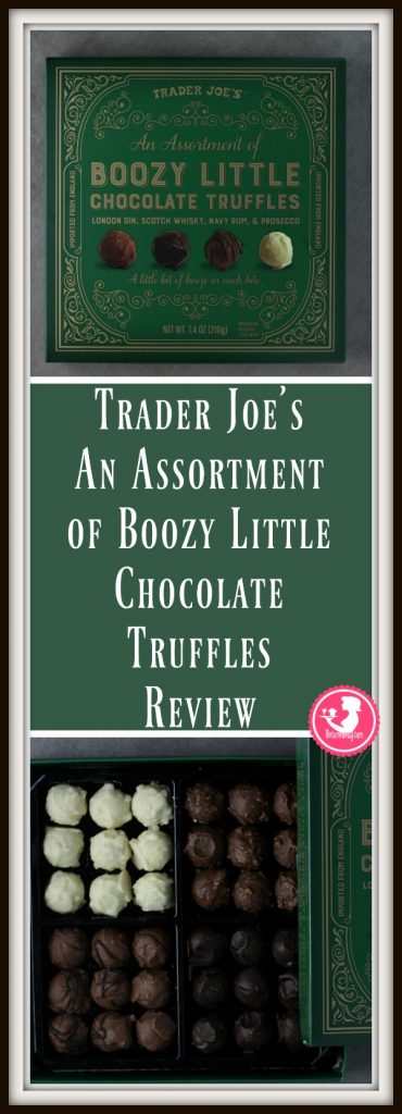 Trader Joe's An Assortment of Boozy Little Chocolate Truffles review is posted. Each review features pictures, product and nutritional information including packaging, allergy and ingredient information, and pricing.