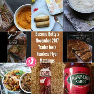 Trader Joe's November 2017 Fearless Flyer Matchups
