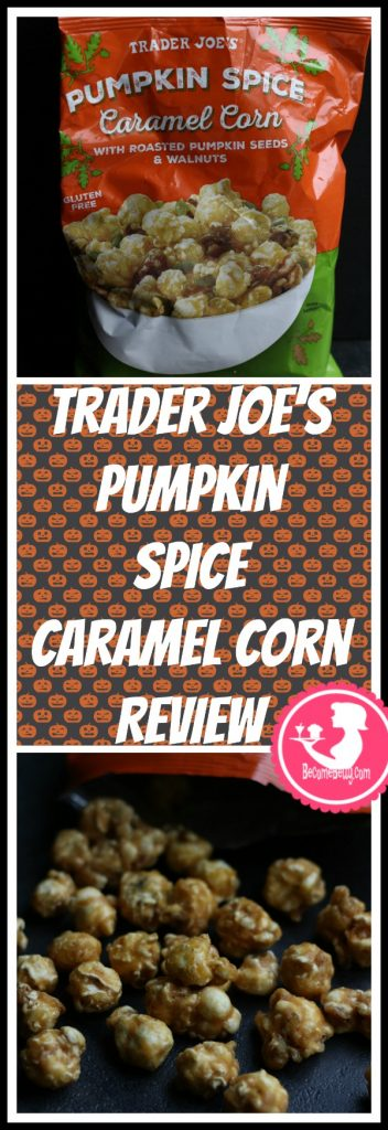 Trader Joe's Pumpkin Spice Caramel Corn review is posted. Each review features pictures, product and nutritional information including packaging, allergy and ingredient information, and pricing.