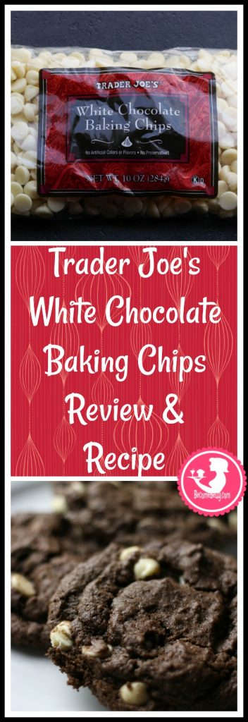 Trader Joe's White Chocolate Baking Chips review and soft chocolate cookie recipe is posted. Each review features pictures, product and nutritional information including packaging, allergy and ingredient information, and pricing.