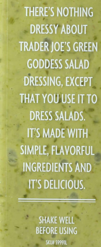 Trader Joe's Green Goddess Salad Dressing description
