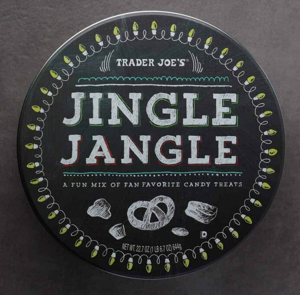 An unopened Trader Joe's Jingle Jangle package from top