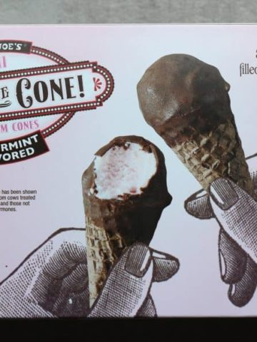 Trader Joe's Peppermint Flavored Hold the Cone! Mini Ice Cream Cones