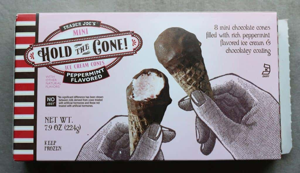 Trader Joe's Peppermint Flavored Hold the Cone! Mini Ice Cream Cones