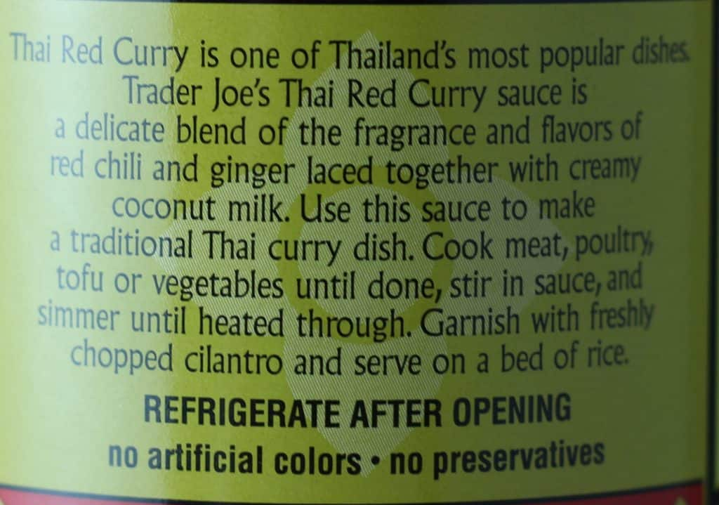 Trader Joe's Thai Red Curry Sauce description and how to prepare