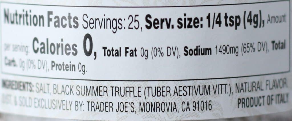 Trader Joe's Truffle Salt with Black Truffles