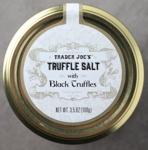 Trader Joe's Truffle Salt with Black Truffles packaging from the top