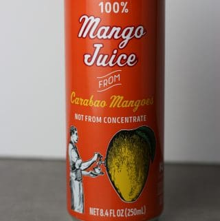 Trader Joe's 100% Mango Juice from Carabao Mangoes can