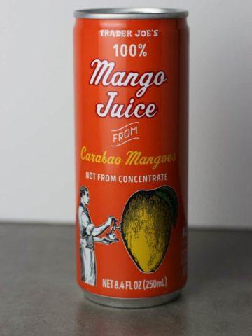 Trader Joe's 100% Mango Juice from Carabao Mangoes can