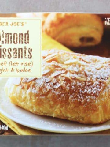 Trader Joe's 4 Almond Croissants box as seen on store shelves