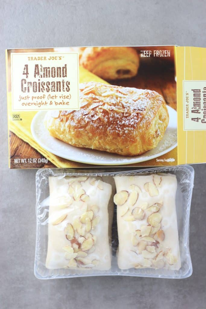 Trader Joe's 4 Almond Croissants out of the box