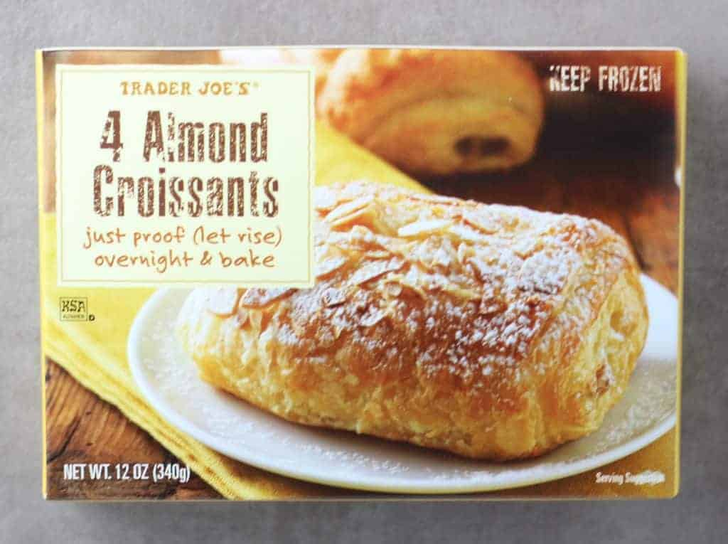 Trader Joe's 4 Almond Croissants box as seen on store shelves