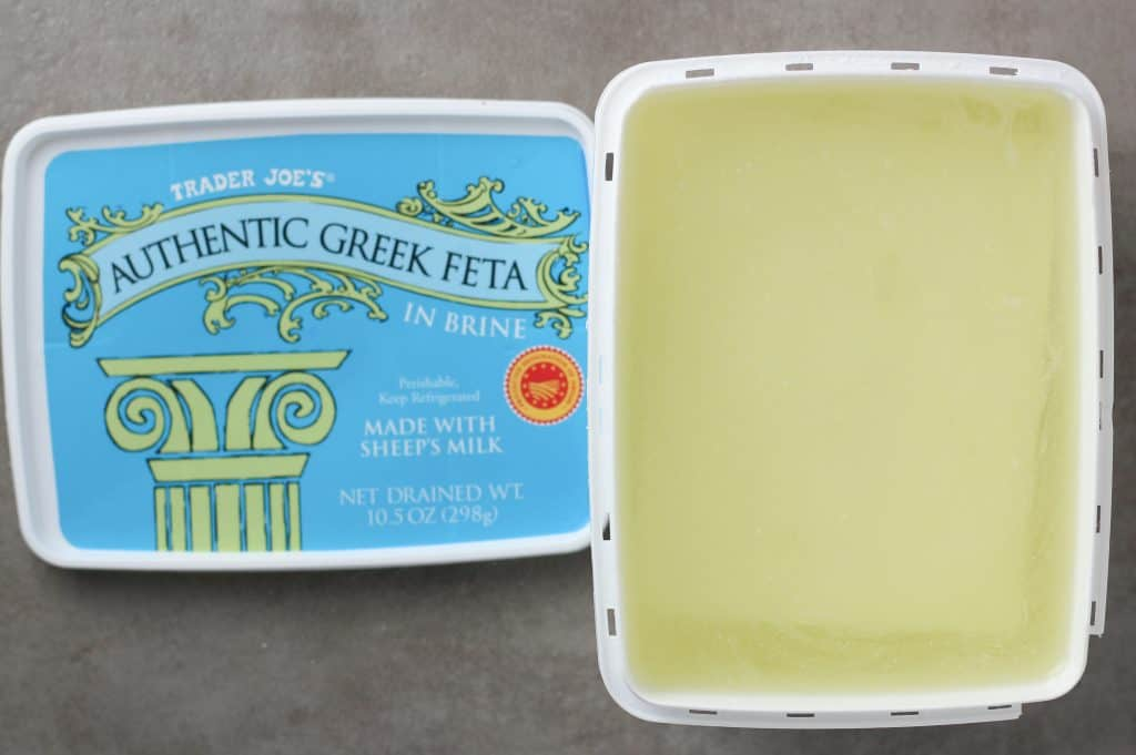 Trader Joe's Authentic Greek Feta in Brine opened package