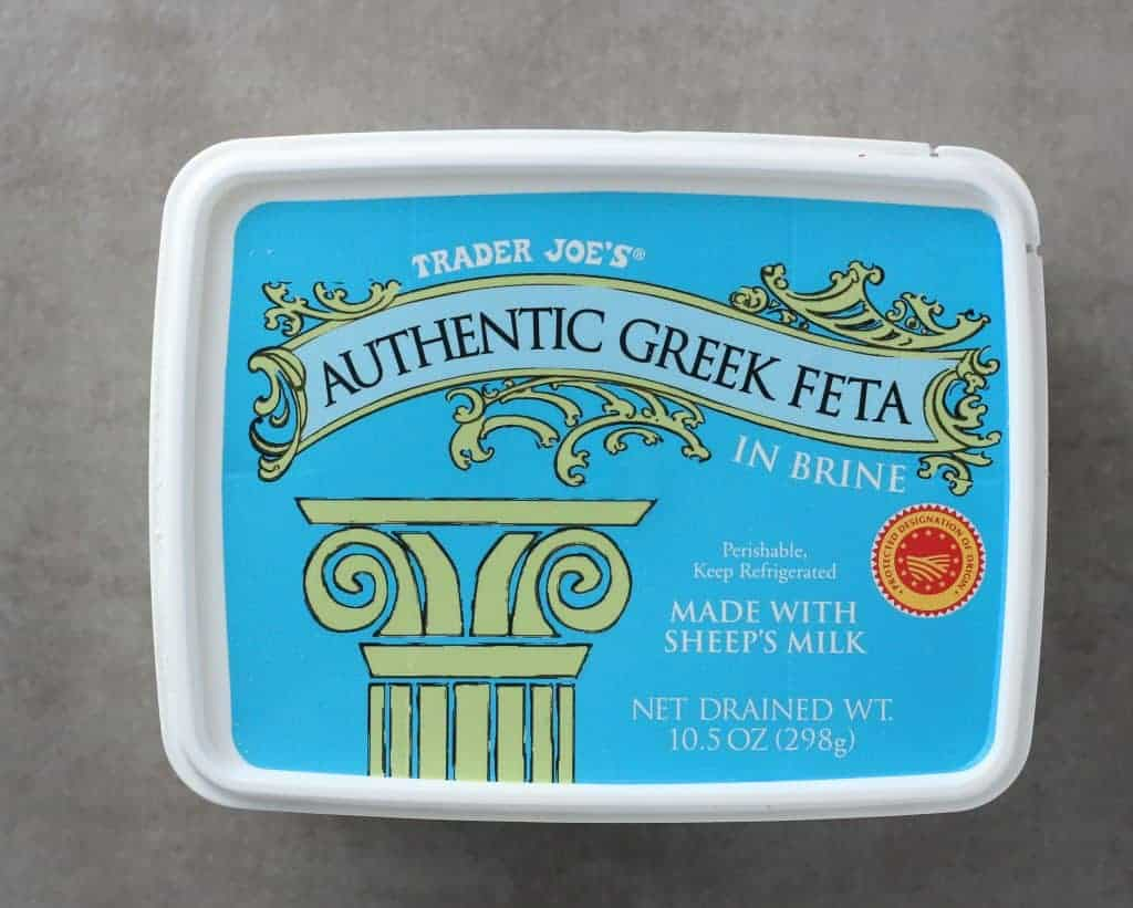 Trader Joe's Authentic Greek Feta in Brine package