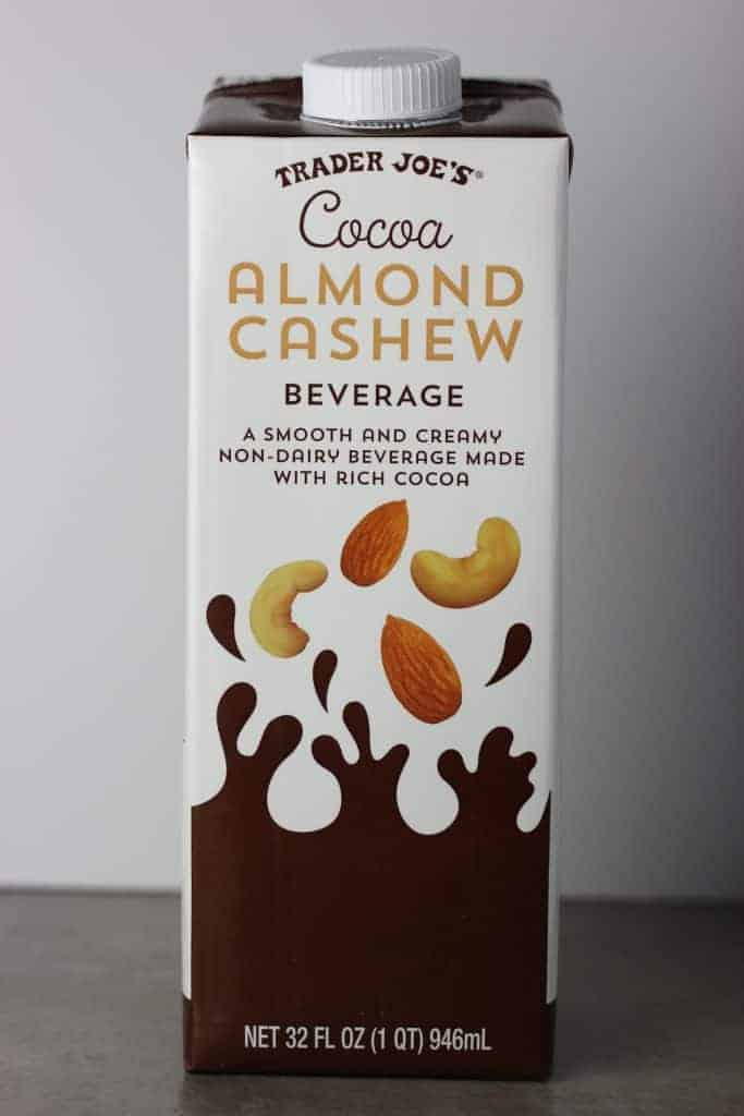 Trader Joe's Cocoa Almond Cashew Beverage package