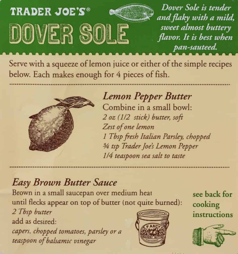 Trader Joe's Dover Sole directions