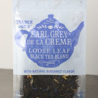 Trader Joe's Earl Grey De La Creme bag as seen on shelves