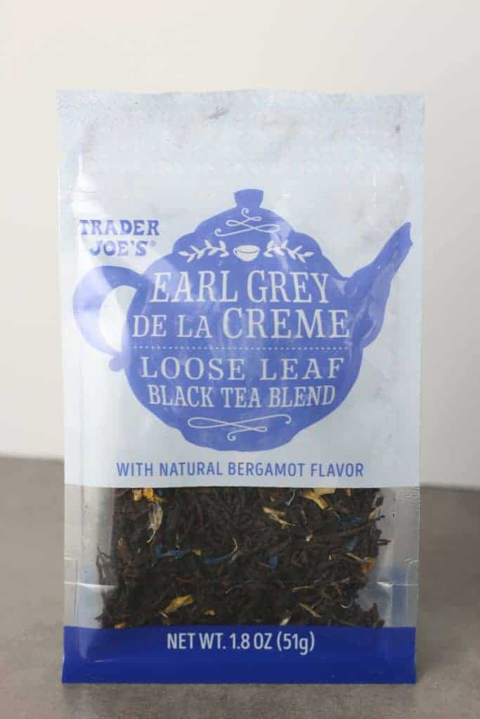Trader Joe's Earl Grey De La Creme bag as seen on shelves